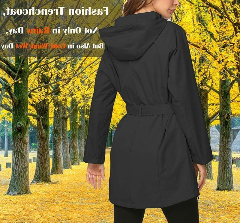 ZHENWEI Rain Jacket Long Rain Coat f