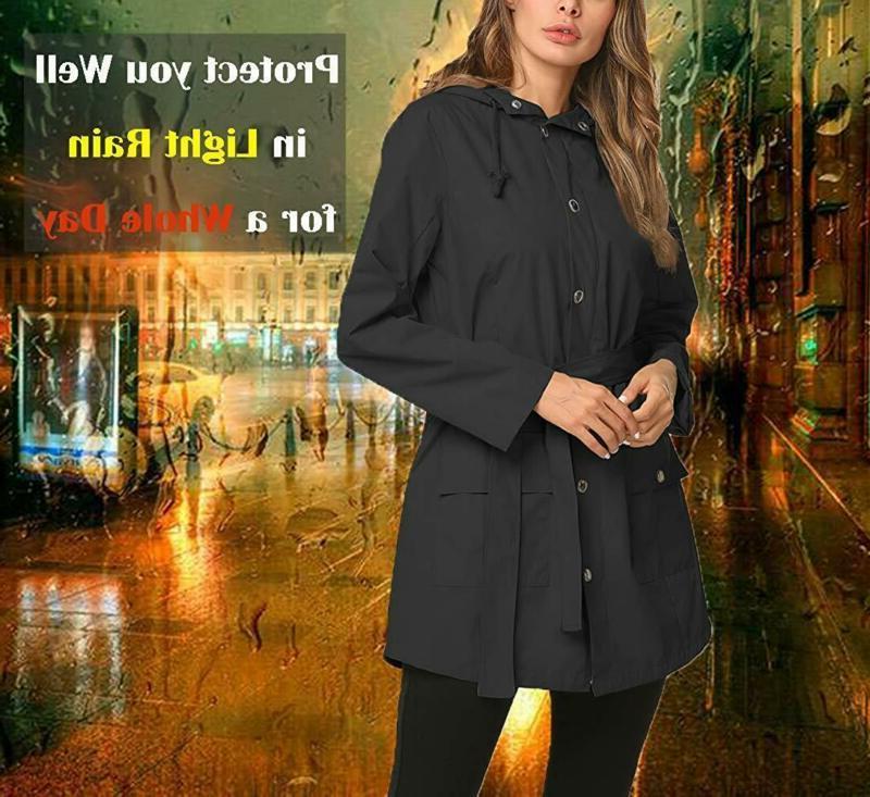 ZHENWEI Rain Long Lined Rain Coat Waterproof Windbreaker