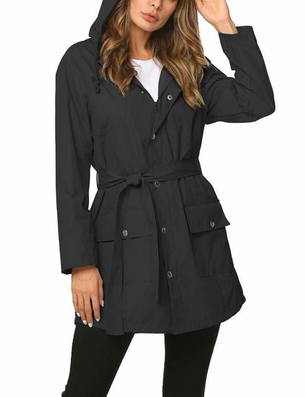 rain jacket women long raincoat lined rain