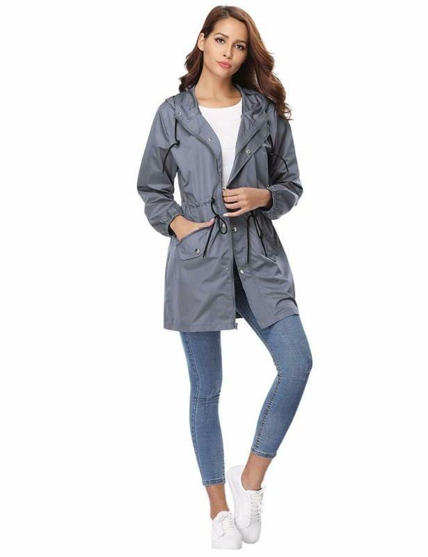 Abollria Rain Women Waterproof Hood Lightweight Active Outdoor Raincoat