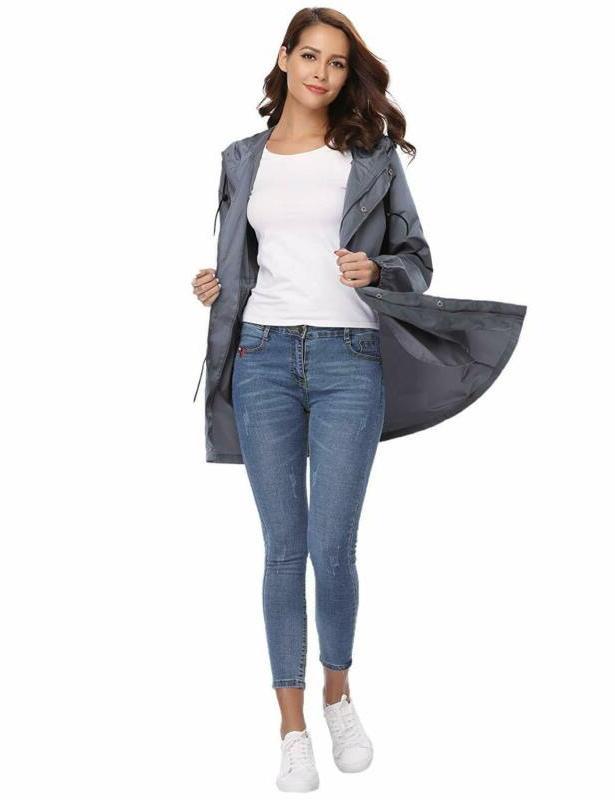 Abollria Jacket Waterproof Hood Lightweight