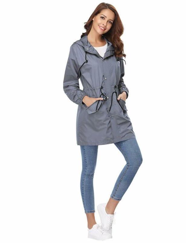 Abollria Jacket Waterproof Hood Active Outdoor Raincoat