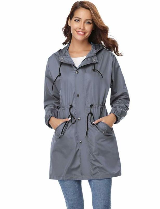rain jacket women waterproof hood lightweight active