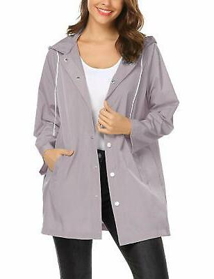 rain jacket women waterproof with hood windbreaker