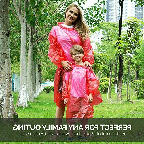 Dryzle Poncho Pack 12 Raincoat or Rain