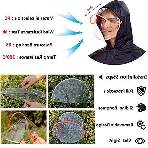Aoteng Star Rain Poncho Long Waterproof Hood Adult