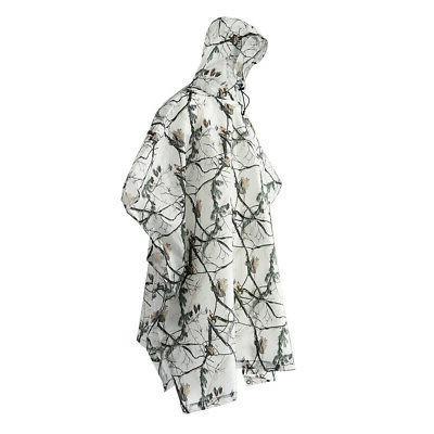 rain poncho waterproof camouflage rain coat sunshade