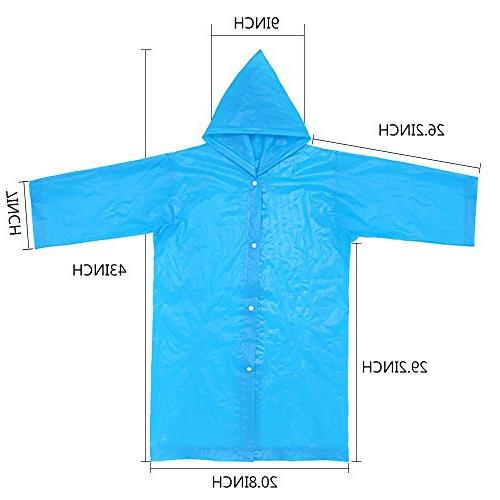 AzBoys Children 2Pack,Blue Yellow,Waterproof Raincoat Boys Girls