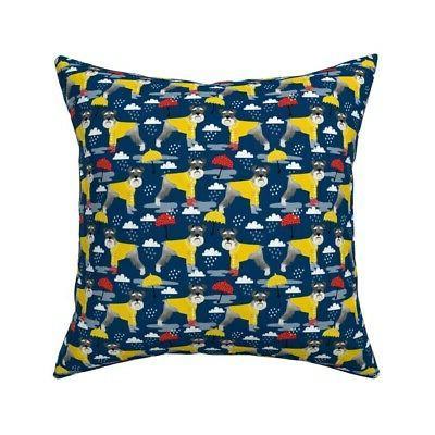 raincoat dog schnauzer dogs throw pillow cover