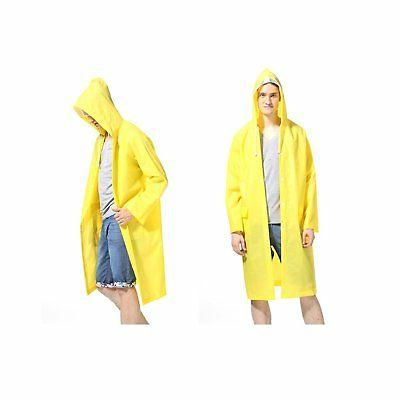 LvDD Durable Rain Unisex Men Women Rain Poncho with Hat