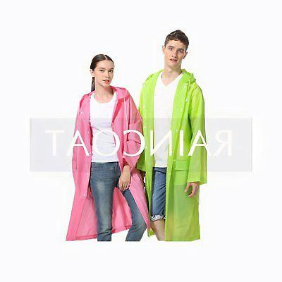 LvDD Durable Rain Cape Unisex Men Women Poncho with Hat