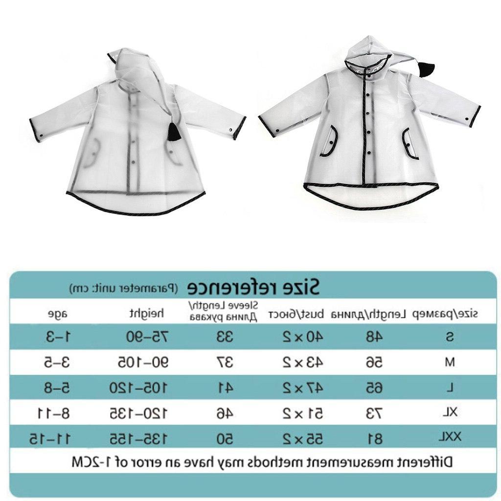 Raincoat For Children Cartoon Kids Poncho <font><b>Girls</b></font> <font><b>Coat</b></font> Kindergarten Rainsuit