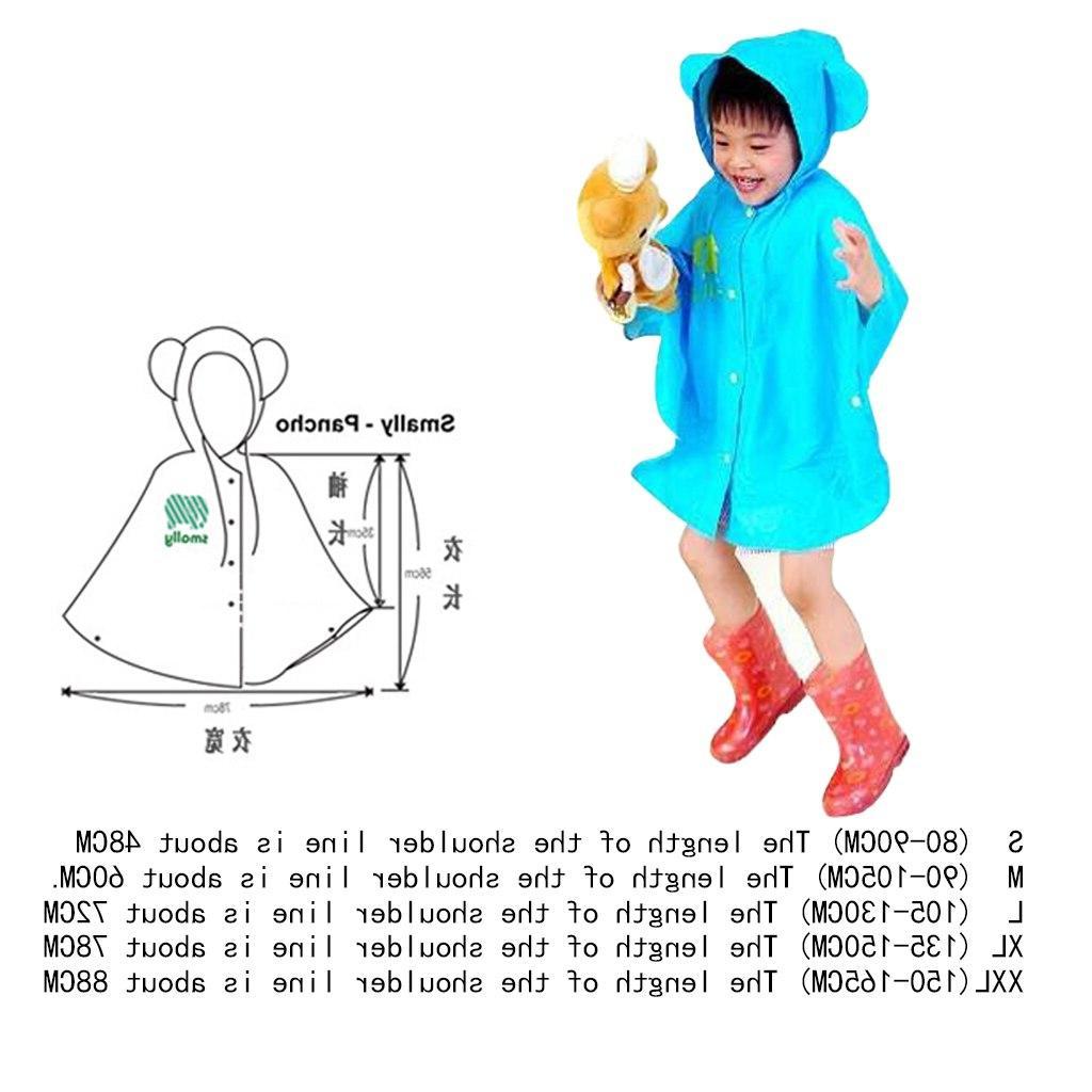 Raincoat Children Kids Waterproof Poncho Boys <font><b>Girls</b></font>