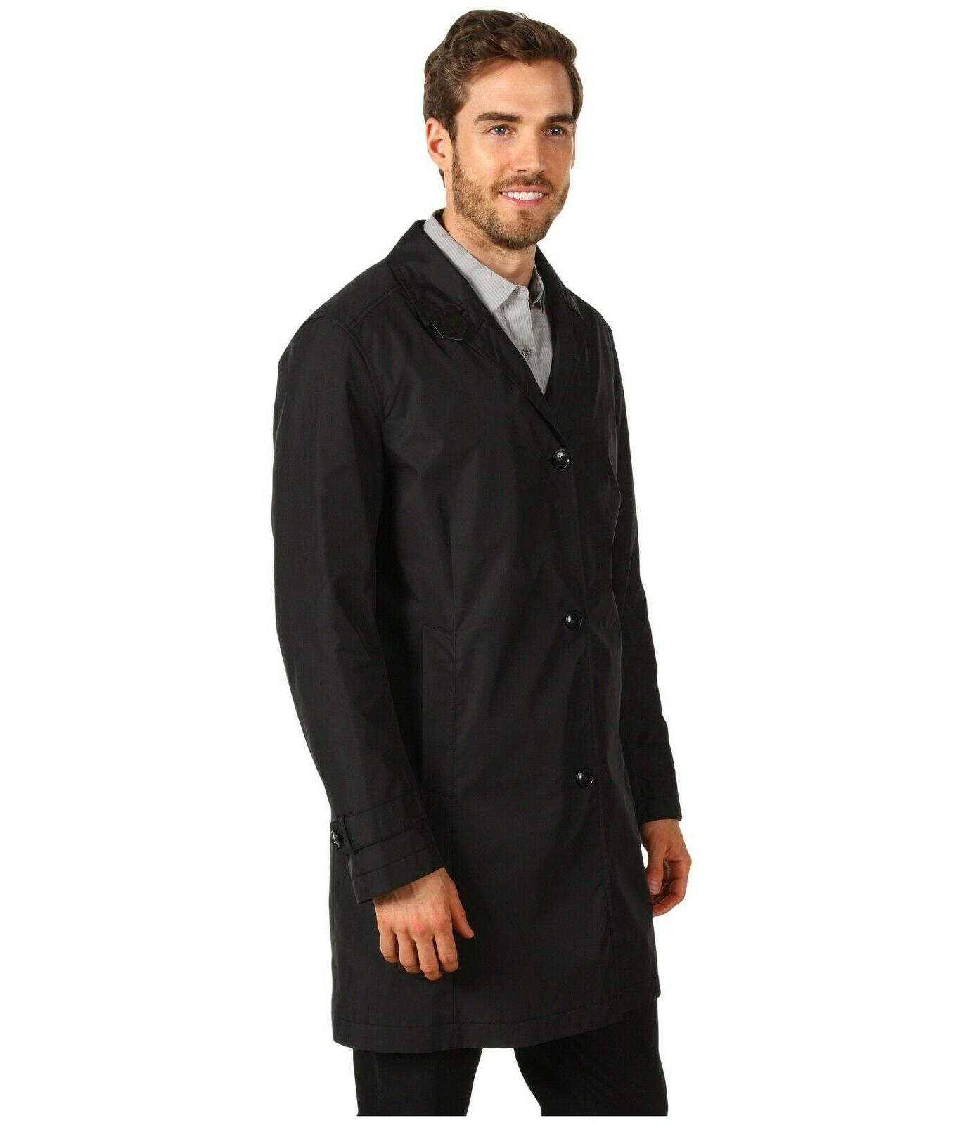 COLE HAAN Raincoat Light Trench Black L Brooks Bros