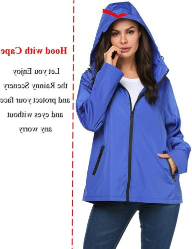 LOMON Modern Mountain Rain JacketBlue,M
