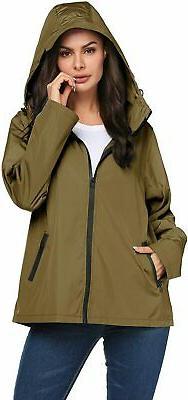 LOMON Raincoat Women Waterproof Lightweight Reflective Packa