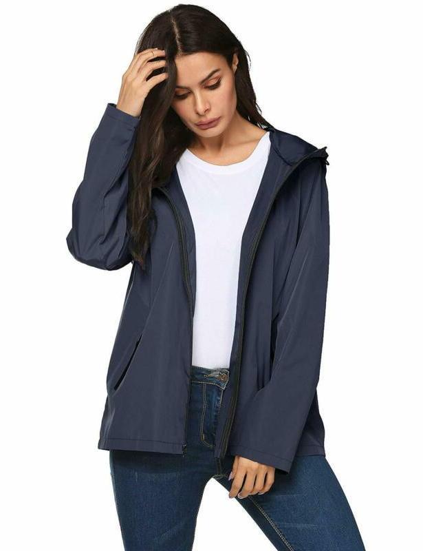 Lomon Women Waterproof Lightweight Reflective Jacket