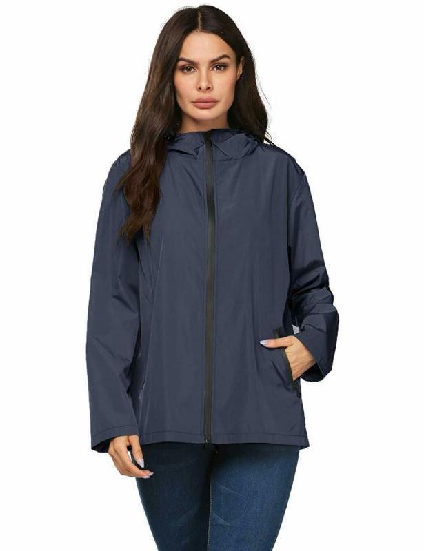 Lomon Lightweight Reflective Packable Rain Jacket For