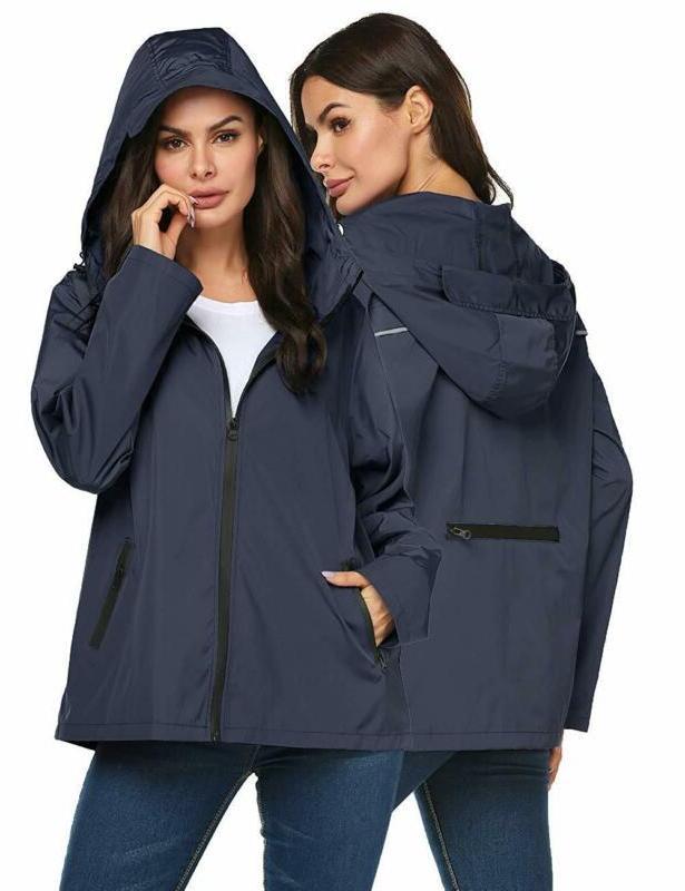 raincoat women waterproof lightweight reflective packable ra