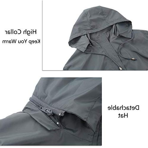 0f81e55aa FISOUL Raincoats Men's Waterproof Lightweight Long Rain Jacket