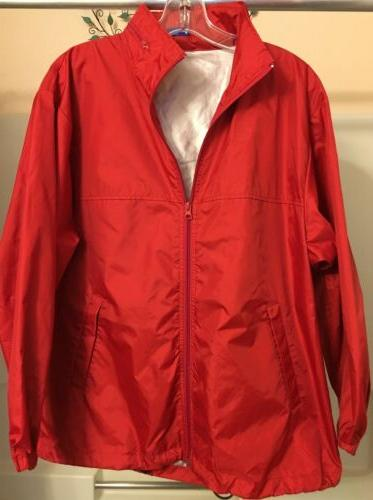 red jacket waterproof size m hiking backpacking