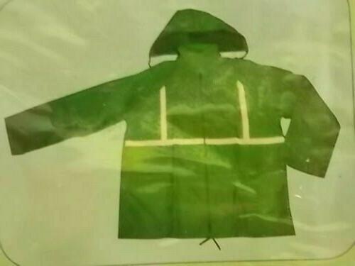 Reflective Rain Raincoat Jacket Design Road Safety Size XL