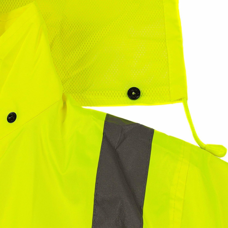 RK Class 3 Rainwear Reflective Hi-Viz Black Long