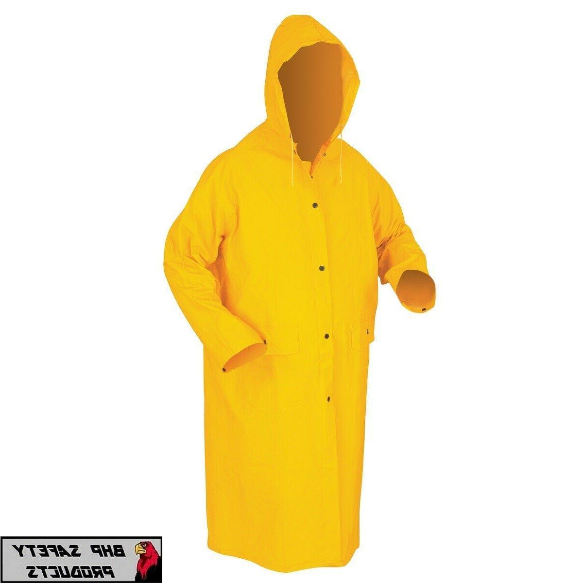 safety rain coat yellow rain jacket 49