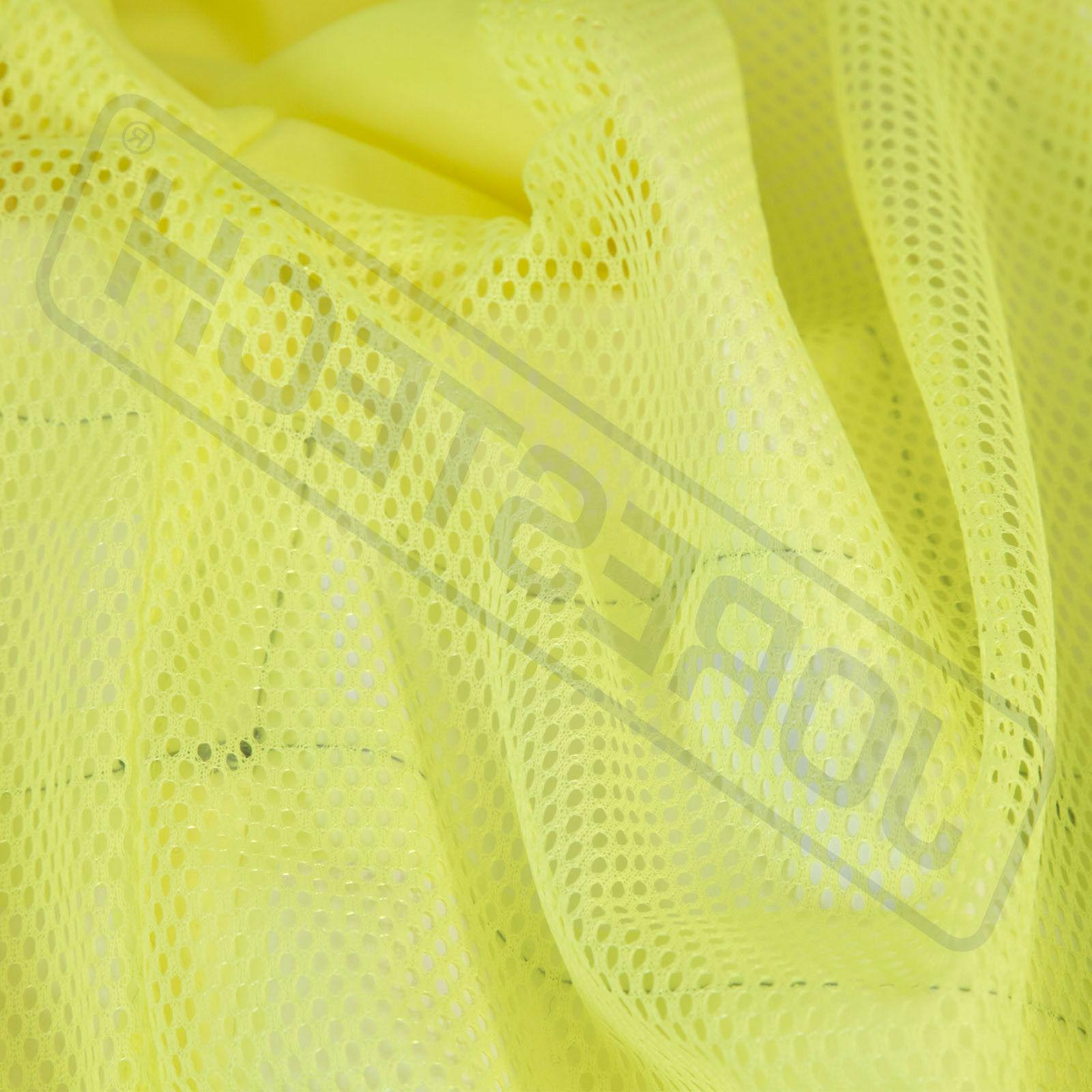 Safety Green Hi-Vis Raincoat w Hood S-5XL