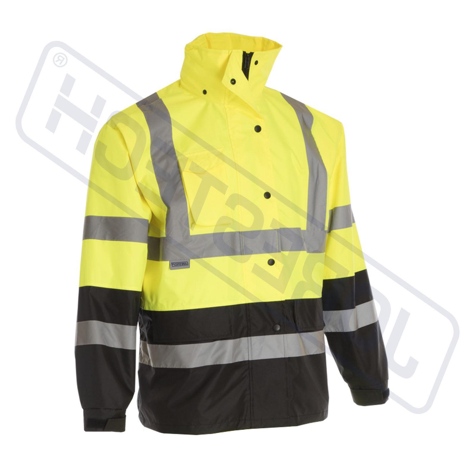 Safety Green Hi-Vis Raincoat w S-5XL