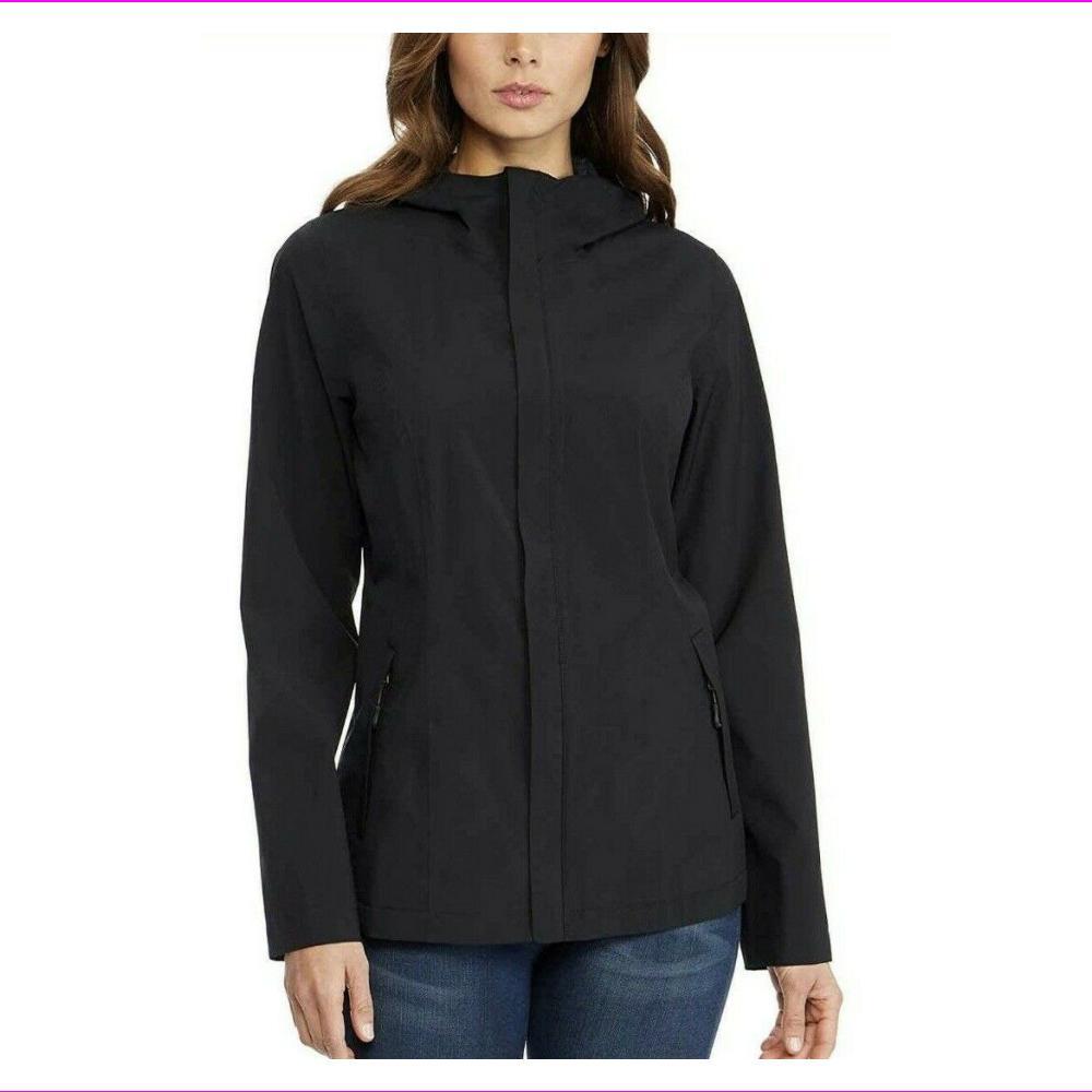 NWT! 32 DEGREES COOL WOMENS WATERPROOF RAIN JACKET COAT BLAC