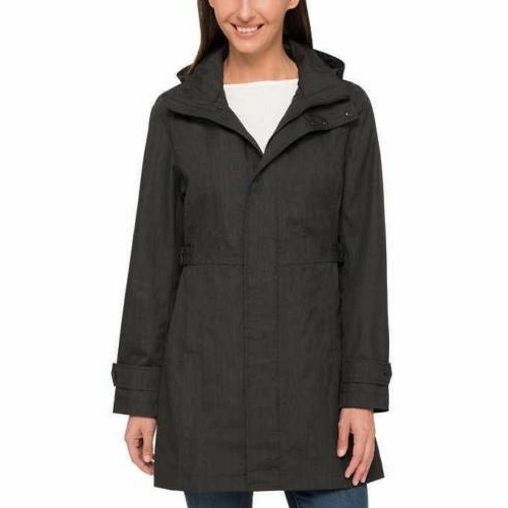 NEW! SALE! Women's Kirkland Signature Trench Rain Coat Hood F53