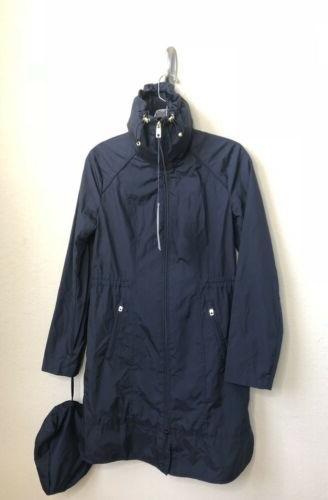 Cole Signature Size XS Rain Coat Drawstring Indigo $220