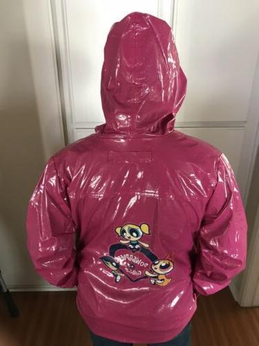 sparkly pink lightweight rain coat vintage rare