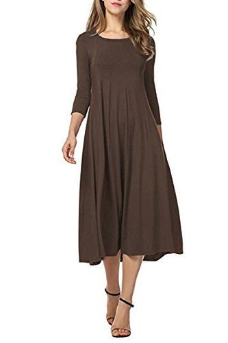 spring office dress midi long