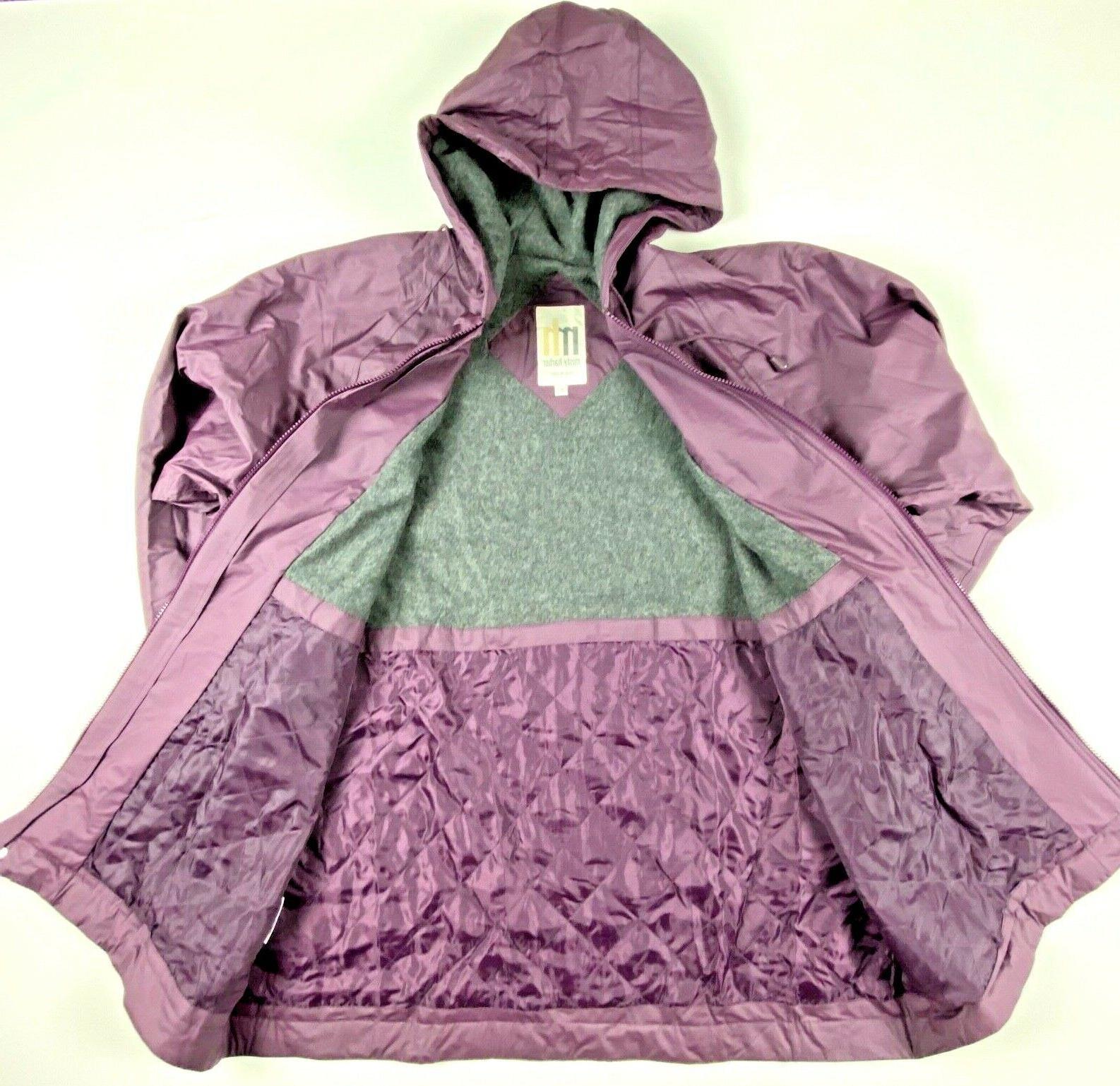 MISTY HARBOR Storm Rain Coat Jacket Lined Color Plum Women's Size Large NWOT