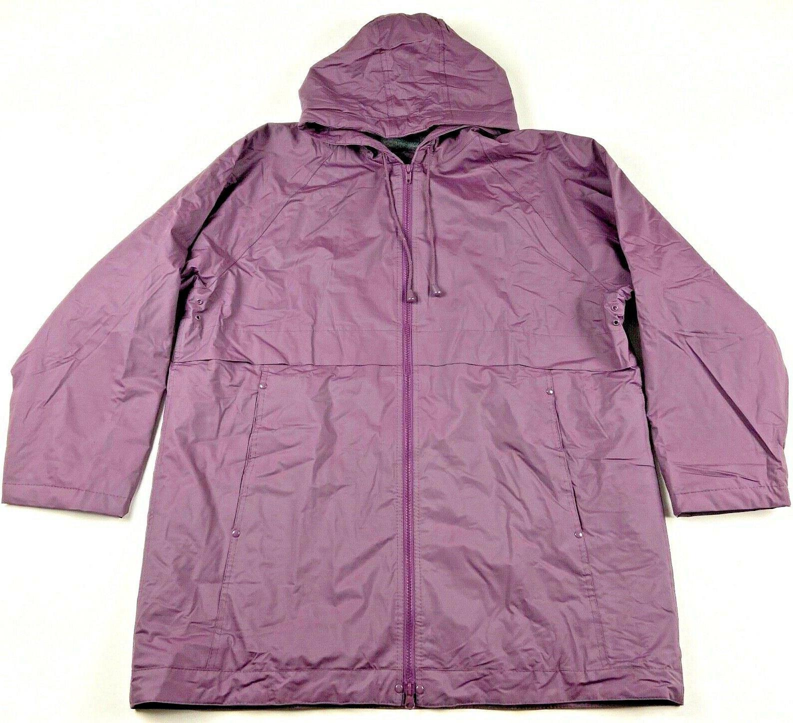 storm rain coat jacket lined color plum