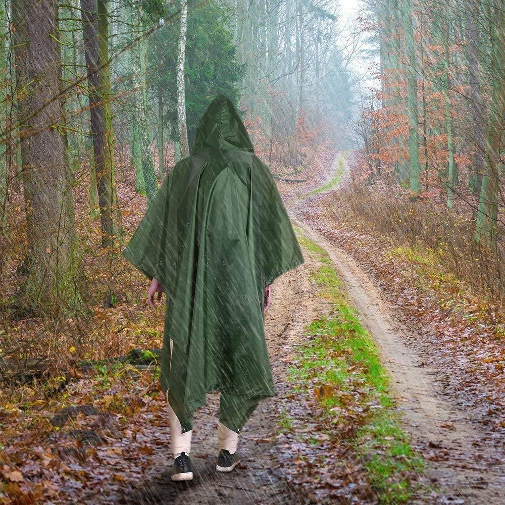Terra Rain Poncho, Waterproof Raincoat Hoods for Outdoor Activities
