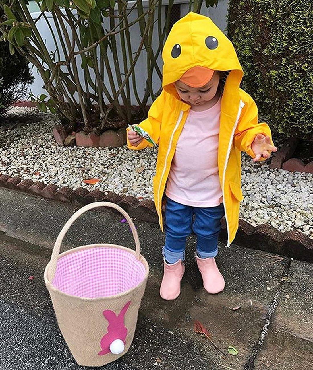 Toddler Boy Girl Duck Raincoat Cute Cartoon Hoodie Zipper