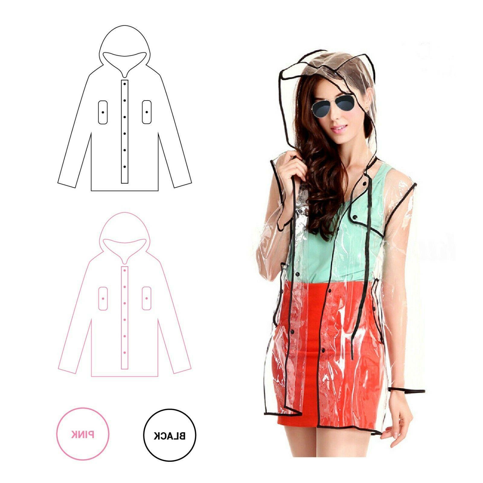 transparent raincoat pvc rain coat with hoodie