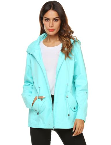 ZHENWEI Rain Coat for Women Hiking Camping Breathable Athlet