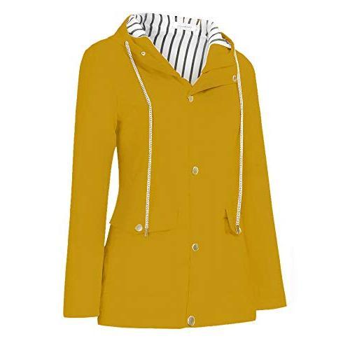 Ulanda Womens Hooded Jacket Plus Size, Hooded Raincoat Rain