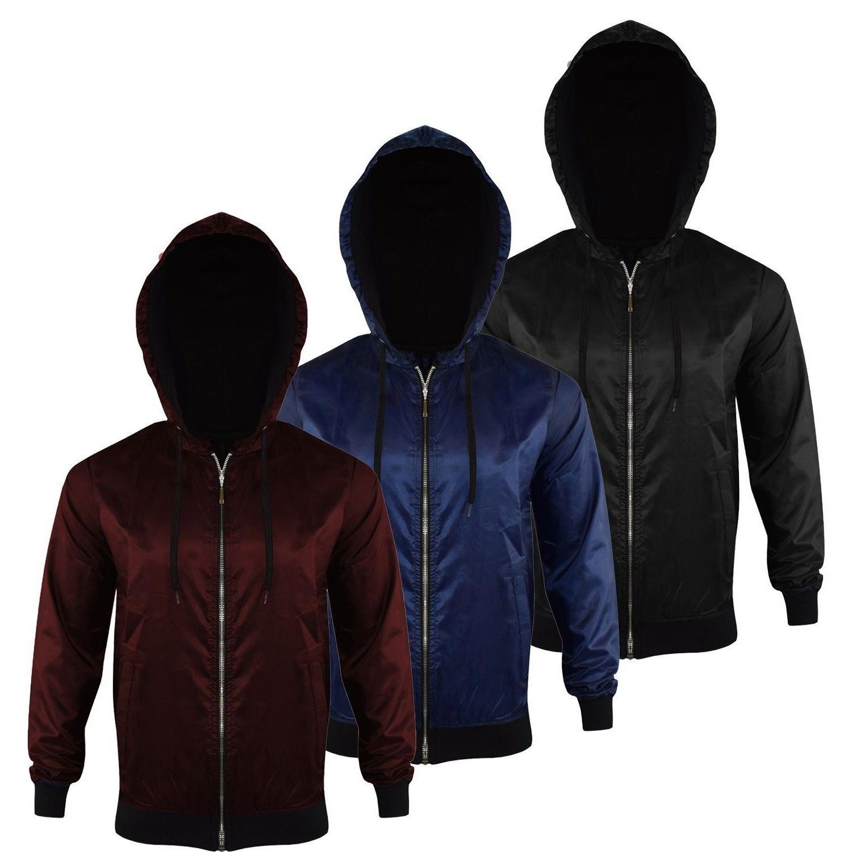 Unisex Weight Anorak Jacket Hooded Rain Coat ZIP Bomber