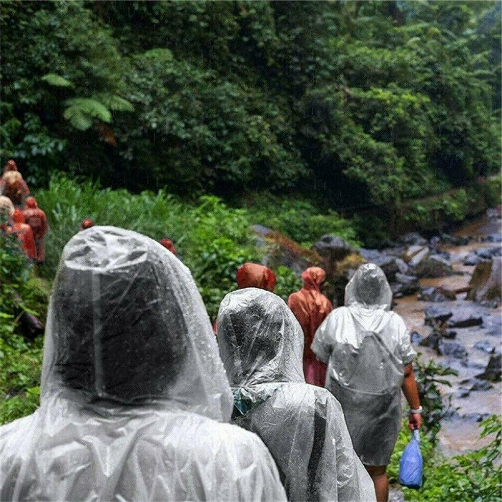 Unisex Raincoats Adult Emergency Rainwear Poncho Camping Coat