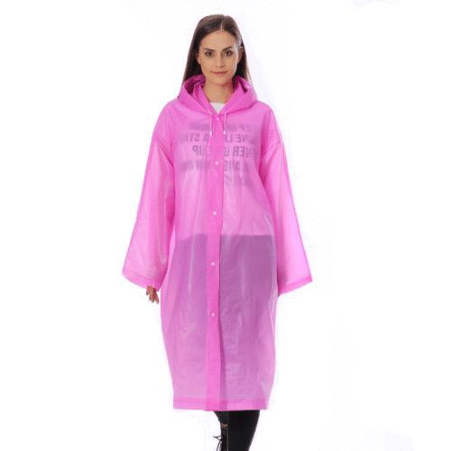 Women Men Waterproof Jacket Clear Coat