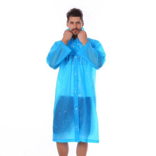 Unisex Jacket Clear Raincoat Rain Poncho Men