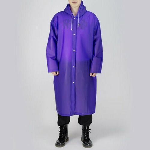 US Mens Womens Waterproof Hooded Raincoat