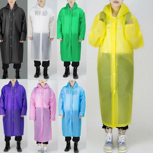 US Mens Waterproof Coat Hooded Raincoat