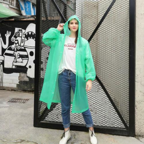 US NEW Women Raincoat Coat Rainwear