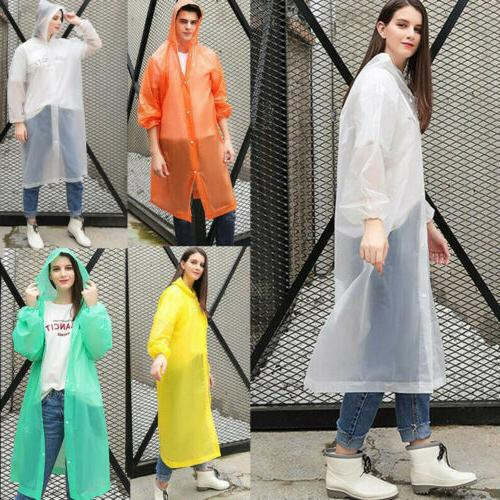 US NEW Men Women Jacket PE Raincoat Coat Rainwear